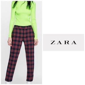Zara Ted Checkered Crop Plaid Pants 👖